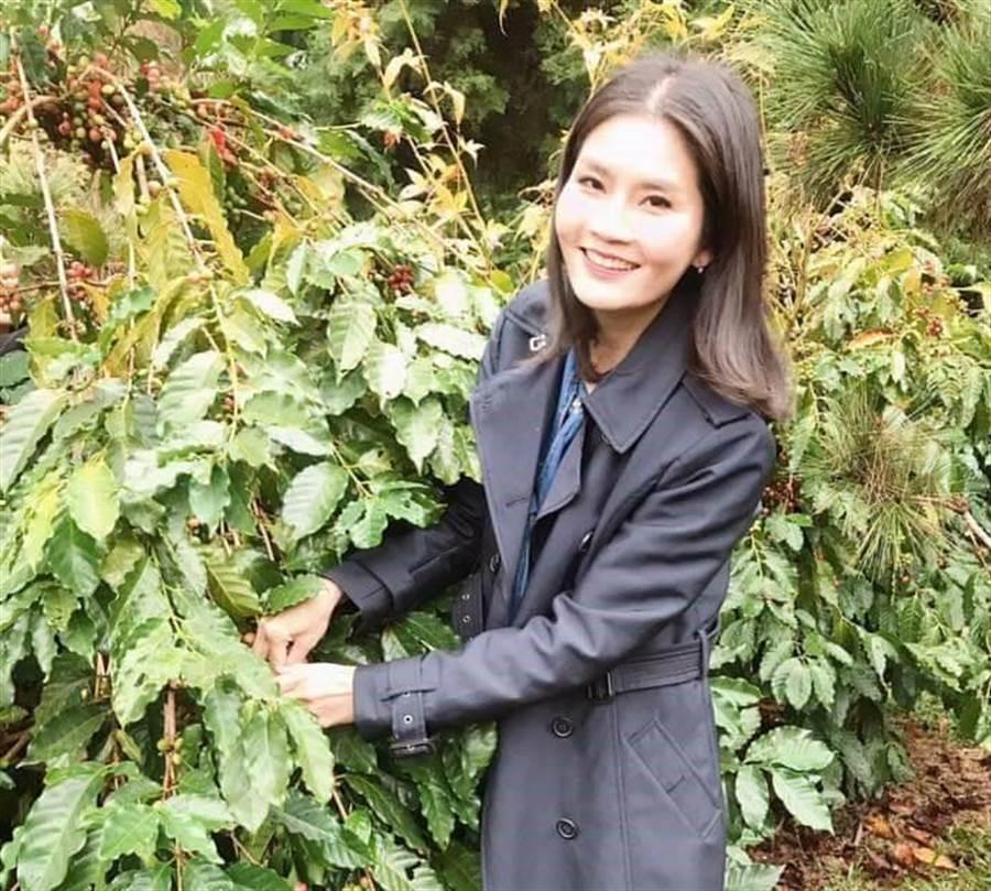 雲林縣府推出「香氛咖啡同樂趣」遊程,到咖啡莊園體驗咖啡文化。(許素惠攝)
