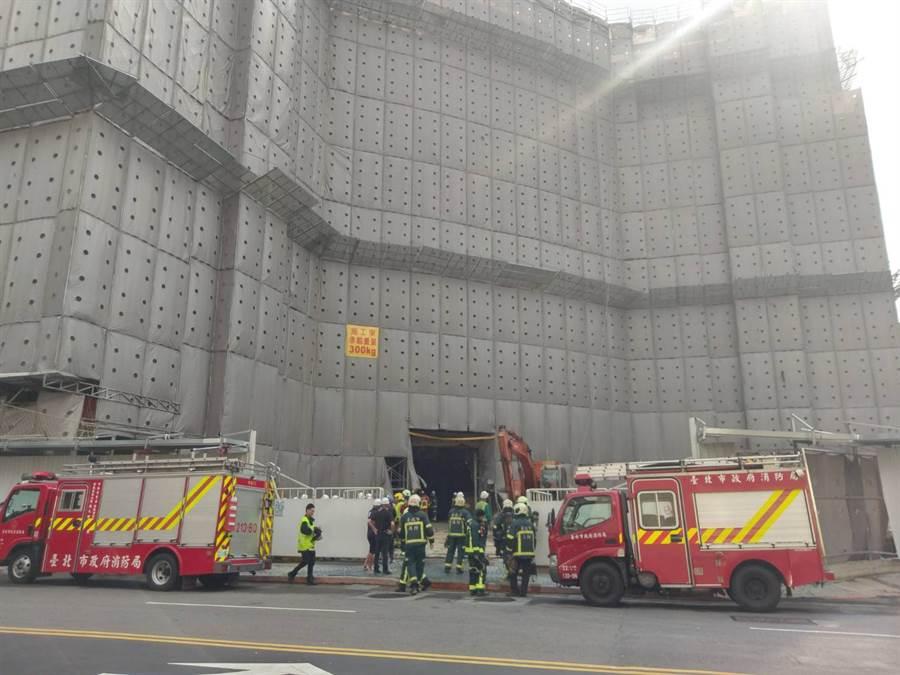 京華城發生工地倒塌事件。