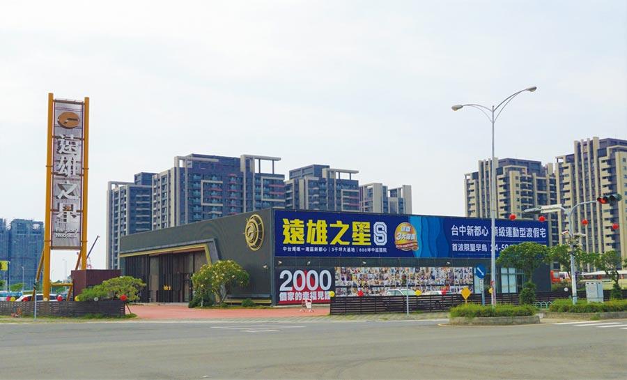 「遠雄之星8」主打台中港特區唯一運動宅,推出豐富的運動公設。圖/曾麗芳