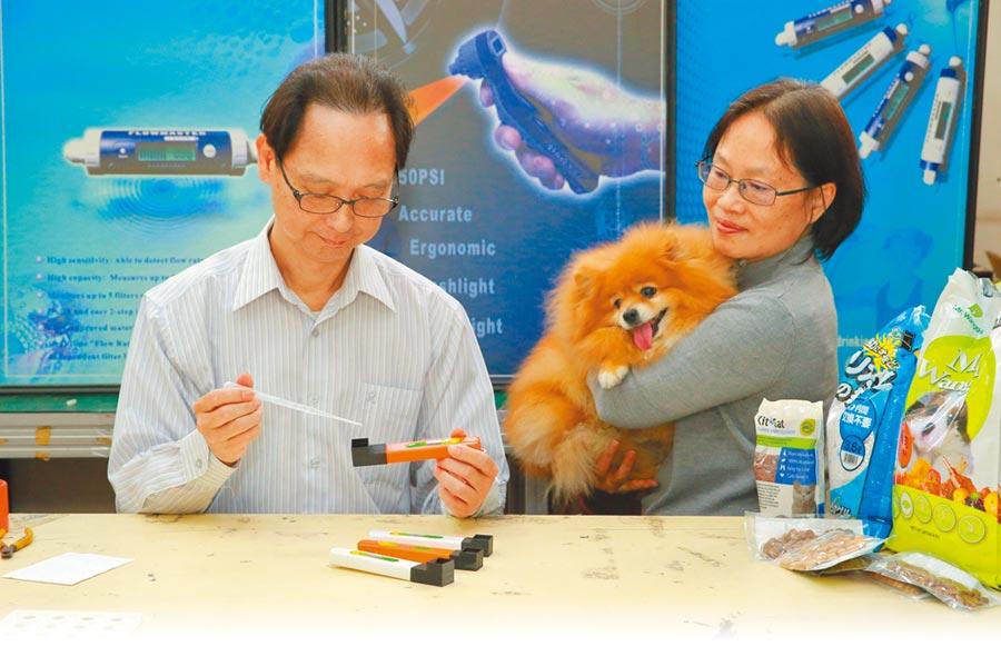 翰信科技研發出犬貓腎功能的快速檢測器,讓毛小孩的尿液「說」出身體不適。(新竹市政府提供/邱立雅竹市傳真)