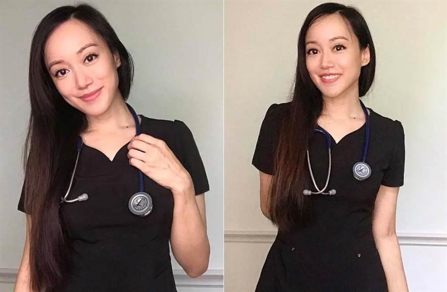 許嘉凌宣布轉職成功,如今當上急診室護士。(取材自許嘉凌臉書)