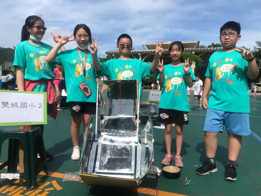 新北市教育局20日在深坑國小舉辦「109年度太陽能燜燒鍋創意競賽」,共有21校37隊參加。(新北市教育局提供)