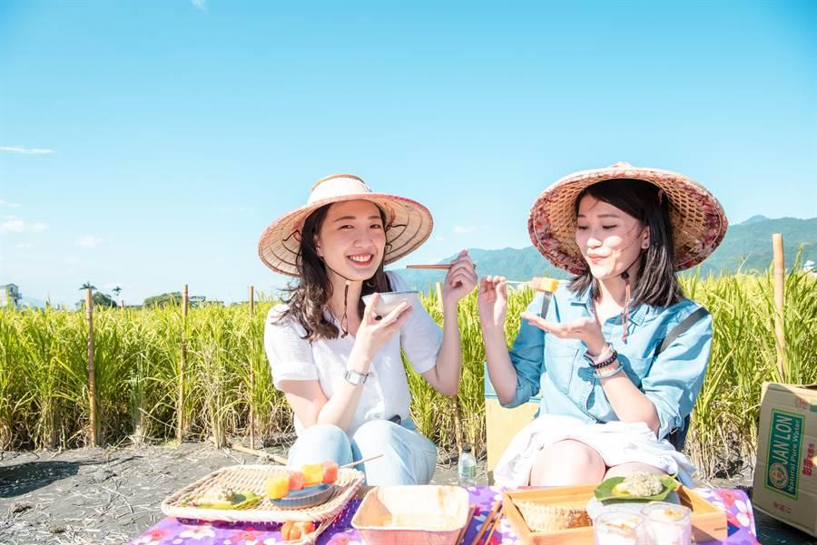 腳印餐桌品嚐創意米料理。(可樂旅遊提供)