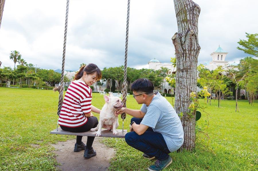 理想大地看好毛小孩市場潛力,7月起推出「毛孩旅行趣」,兩天一夜入住西班牙主題房型每房7,200元起,並盡享專屬寵物樂園島。圖/業者提供