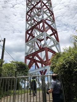 基隆男子烈日爬虎仔山電台高塔 對峙2小時解除虛驚