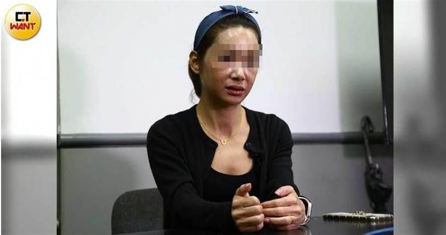 楚楚指控制憲基金會張姓高層不斷以言語性騷擾女性員工。(圖/黃鵬杰攝)