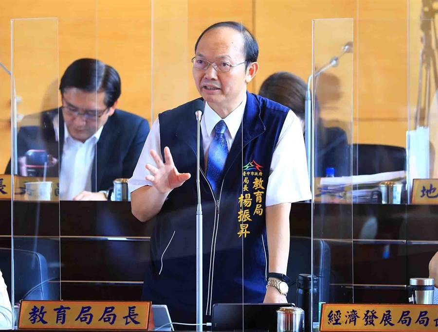 教育局長楊振昇說,將按照需求程度排列順序,透過相關經費改善。(陳世宗攝)