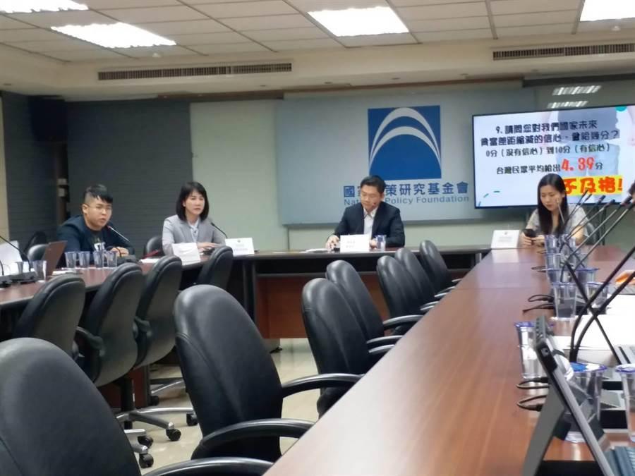 國民黨智庫公布最新民調(張理國攝)
