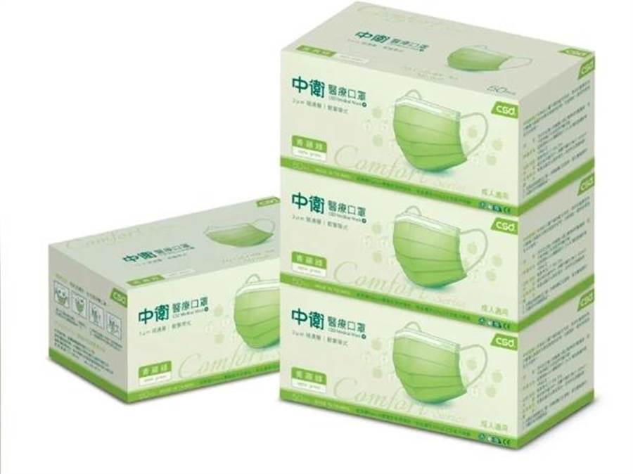 網路商店也將於6月22日及23日上午限量開賣「中衛盒裝醫療口罩」,更新增青蘋綠、櫻花粉、軍綠等特殊色,提供民眾選擇。(屈臣氏提供)