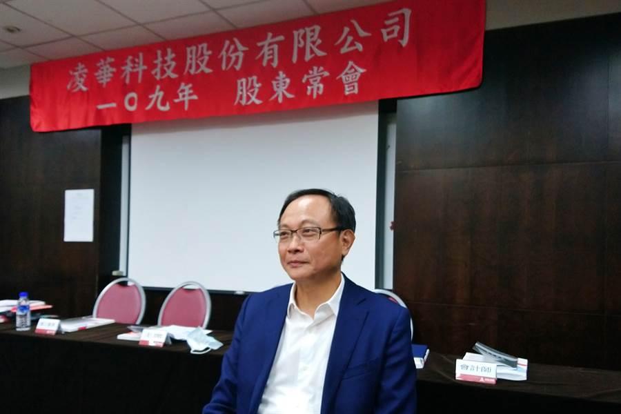 工業電腦廠凌華董事長劉鈞。(記者林資傑攝)
