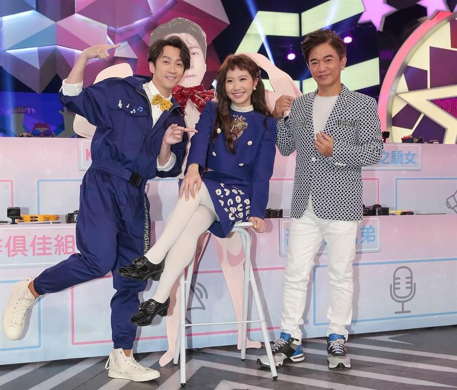 吳宗憲(右起)、Lulu與陳漢典睽違百日再合體。(盧禕祺攝)