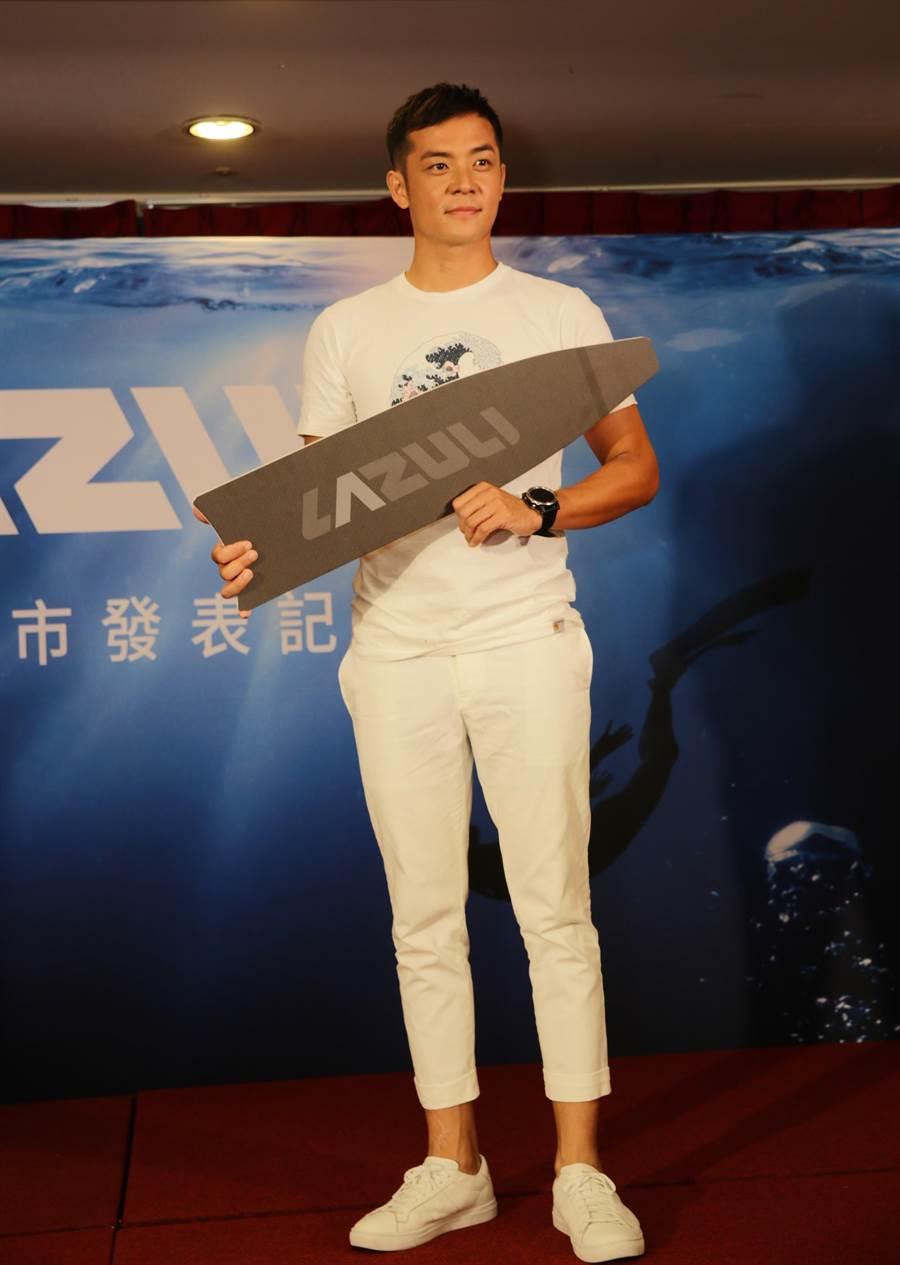 姚元浩担任蛙鞋品牌大使。(LAZULI提供)