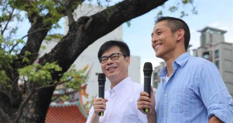 陳其邁積極投入市長補選。(圖/陳其邁競選團隊提供)