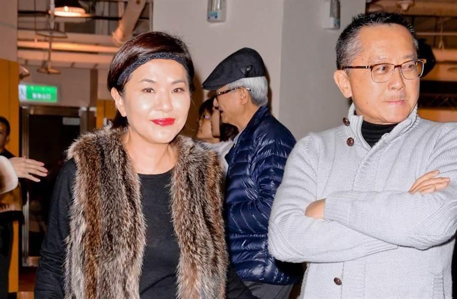張清芳(左)與宋學仁結婚15年。(中國時報資料照片)