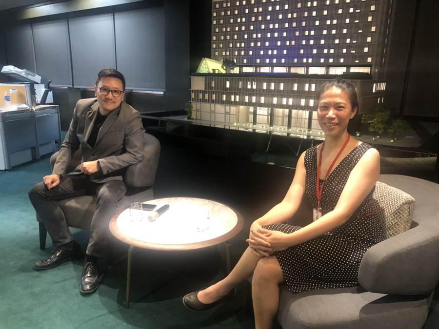 疫情衝擊嘉泥上半年營運,董事長張剛綸(左)與執行長王立心寄望下半年好轉。(圖:王玉樹攝)