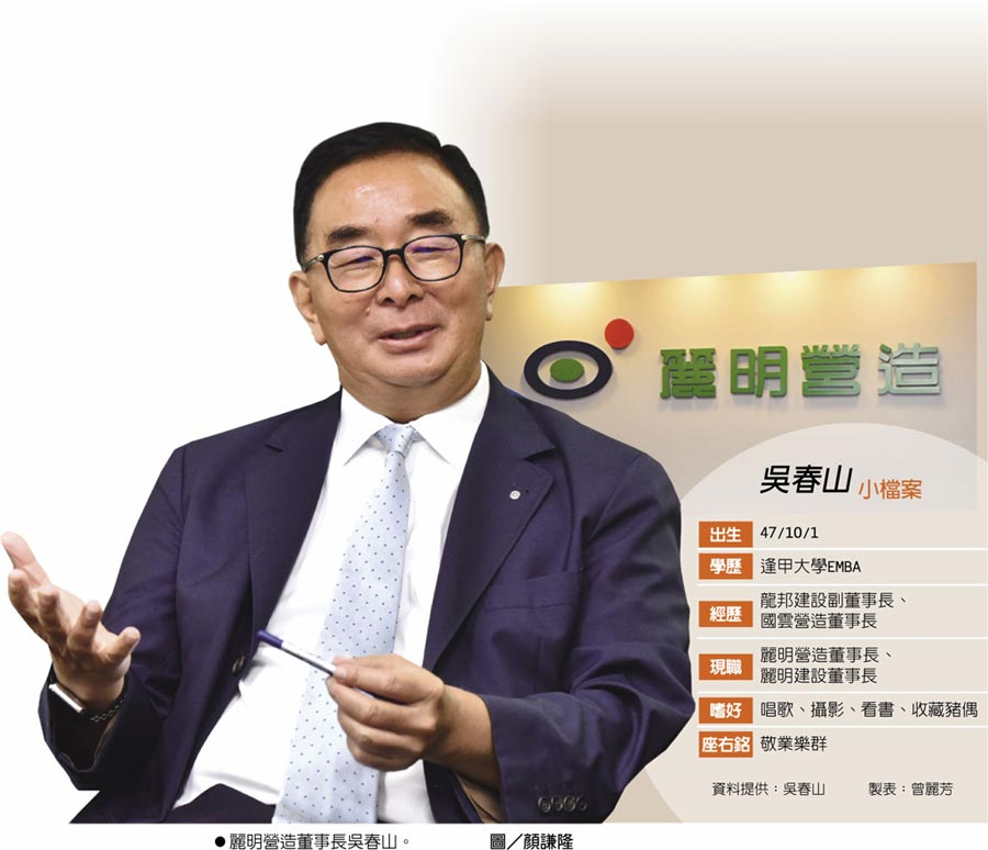 吳春山小檔案  ●麗明營造董事長吳春山。圖/顏謙隆