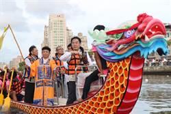 南市龍舟賽開幕 百架無人機排列林默娘、劍獅圖案