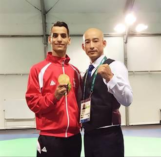 約旦奧運首金 張文賓教出來的
