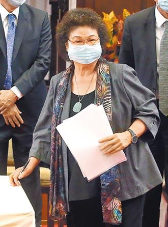 陳菊被提名院長 宣布退出政黨