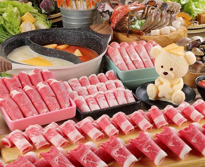 麗寶Outlet Mall的星野肉肉鍋肉品組合。(麗寶Outlet提供/陳淑娥台中傳真)