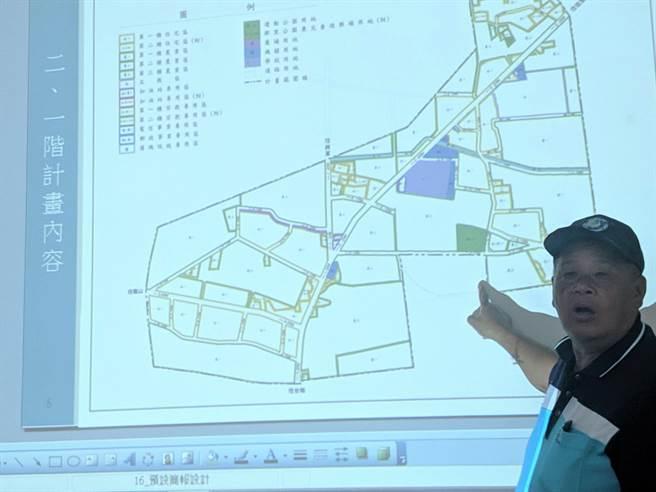 台南市七股區都市計畫案在今年2月由內政部都市計畫委員會審議通過,將增加約45公頃的可用建地,但鄰近土地卻有大規模種電計畫,引起居民反彈。(莊曜聰攝)