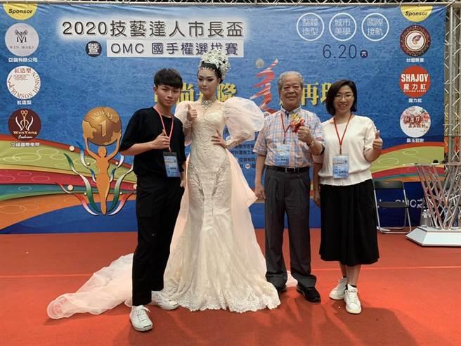 華夏科技大學參加2020技藝達人市長盃暨OMC世界盃國手選拔賽奪得佳績。(華夏科技大學提供)