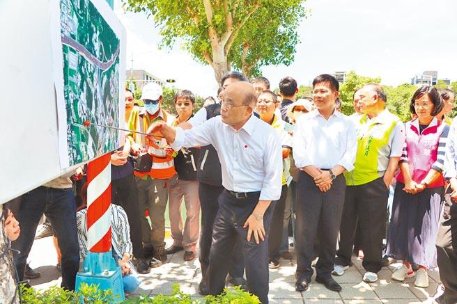 行政院長蘇貞昌宣布通過「北土城交流道」增設案,全案斥資30.44億,預計2027年完工。 (張睿廷攝)