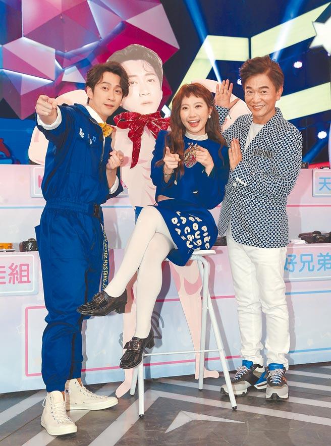 吴宗宪(右起)、Lulu与陈汉典暌违百日,昨再合体主持《综艺大热门》。(卢祎祺摄)