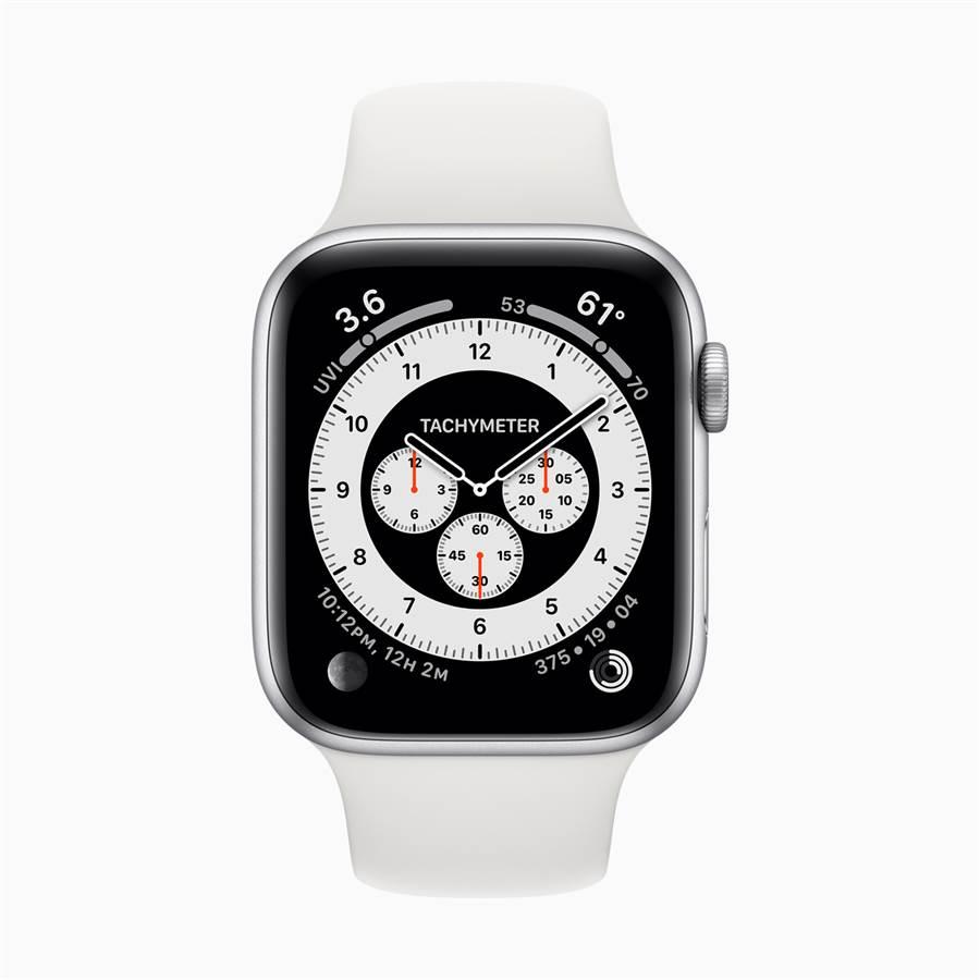 全新Chronograph Pro 錶⾯具有整合式視距儀。(摘自蘋果官網)