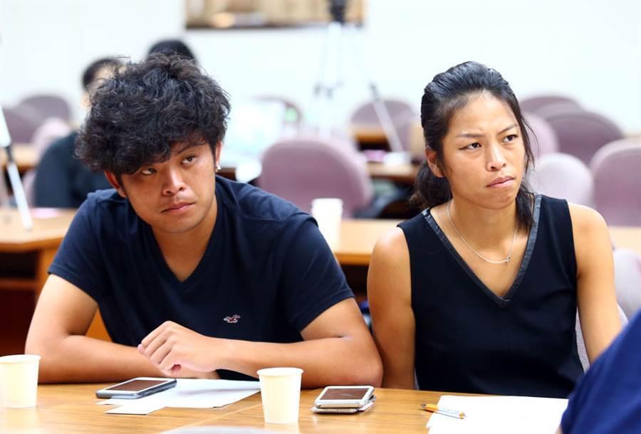 親弟謝政鵬(左)臉書痛訴「這輩子不用往來」,謝淑薇(右)終於回應,再爆驚人之語。(本報資料照/陳信翰攝)