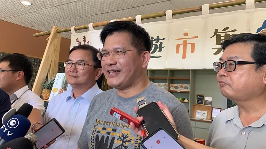 安心旅遊反應熱烈差20億元,林佳龍:向政院申請獲支持。(圖/潘千詩攝)
