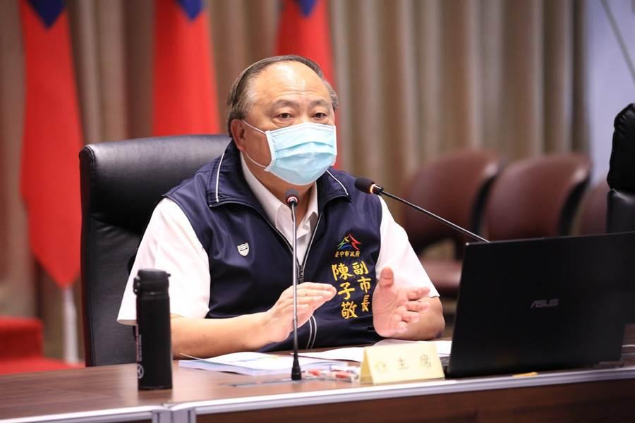 台中市副市長陳子敬表示,台中市今年1至5月各類刑案破獲率,包括全般刑案、全般竊盜、暴力犯罪、詐欺犯罪等破獲數,均較去年同期上升,表現優異。(盧金足攝)