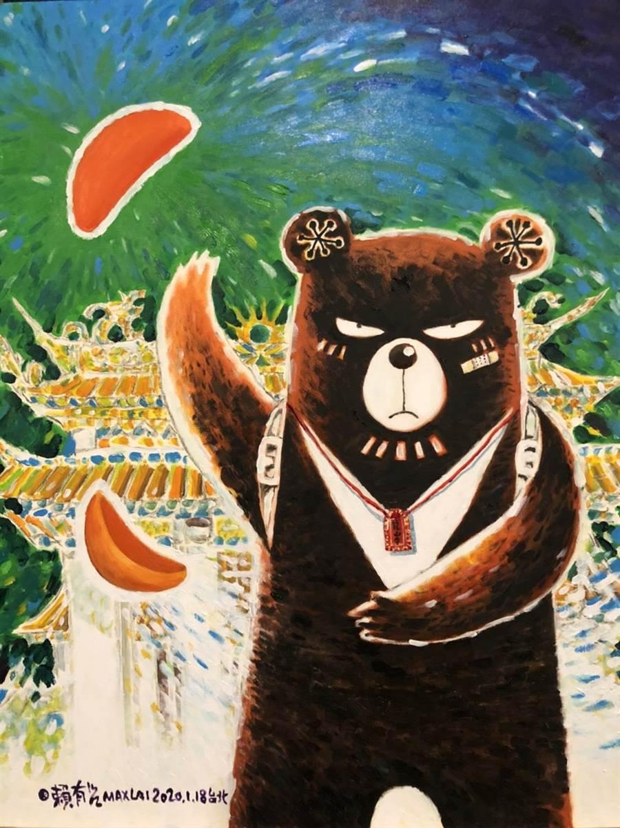 台北市漫畫工會理事長賴有賢,為「遇見神佛9號—祈福漫畫特展【古往今來篇】」,特別創作〈龍山寺的聖杯〉。(圖由世界宗教博物館提供)