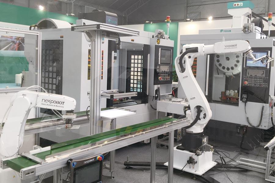創博iRPA2000透過建置工業機器人之整線自動化系統,大幅提高製造效率和彈性。圖/創博提供