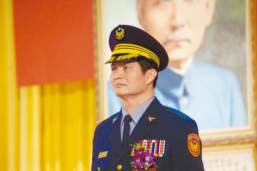 基隆市警察局長林炎田,當年創下8個月拔擢至刑事警察局副局長紀錄。(許家寧攝)