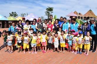 竹南親子公園自24日起啟用戲水區