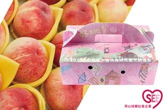用心快樂嘗水蜜桃 培養泰雅小畫家