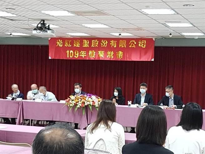 光聖今日舉行股東會順利改選董事。(圖/鄭淑芳)