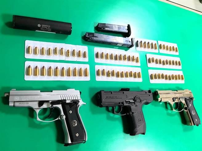 許錫榮上任縣警局長立馬查獲3槍72彈。(彰化縣警察局提供/吳敏菁彰化傳真)