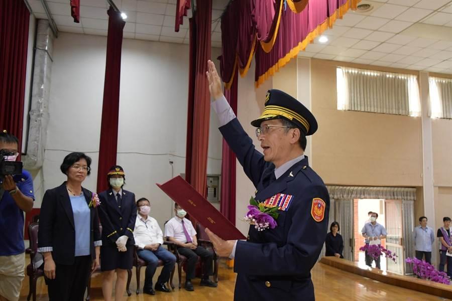 許錫榮上任縣警局長立馬查獲3槍72彈。(資料照片/吳敏菁彰化傳真)