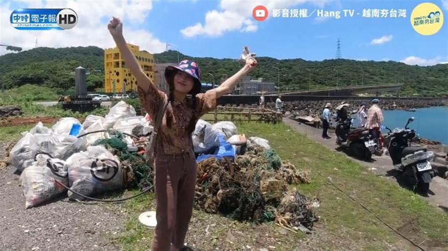 外籍移工自組「淨灘團」,用行動愛地球。