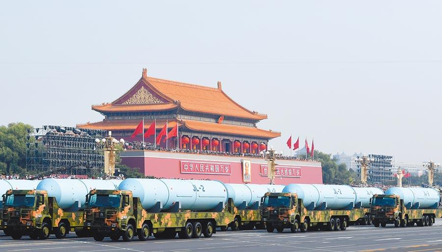 解放軍巨浪-2飛彈方隊。(中新社資料照片)