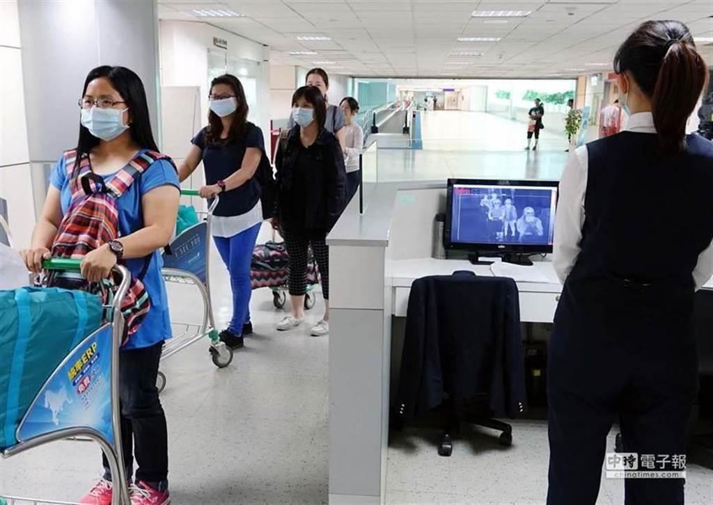 圖為桃機檢疫情形,非新聞當事者畫面。(中時報系資料照片)