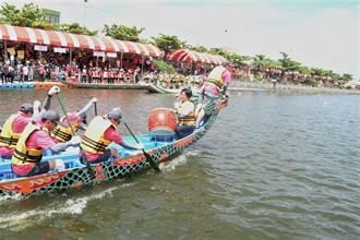 中台灣唯一龍舟賽防疫英雄也投入 鹿港慶端陽國際龍舟划向高潮