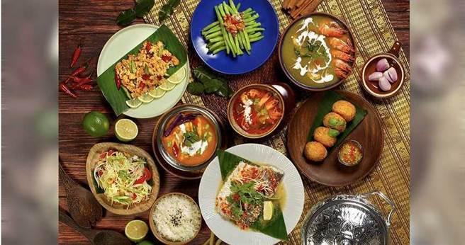 「花園 thai thai」推出的泰式料理。(圖/台北花園大酒店提供)