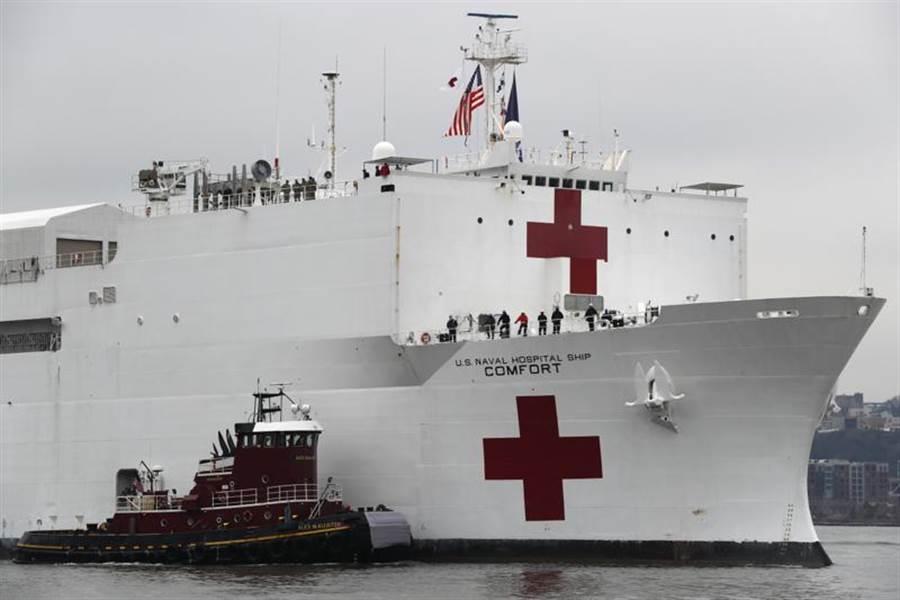 「2021財政年度國防授權法」(NDAA FY2021)提到,為了延續台美應對新冠疫情的合作,呼籲讓美海軍醫療船「安慰號」與「仁慈號」停靠台灣。圖為安慰號。(資料照/美聯社)