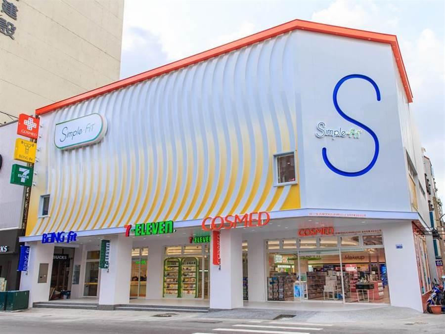 全台首家「Simple-Fit」複合概念店6月27日將在台中開幕,整合統一旗下7-ELEVEN、康是美、BEING fit三大品牌。圖/業者提供