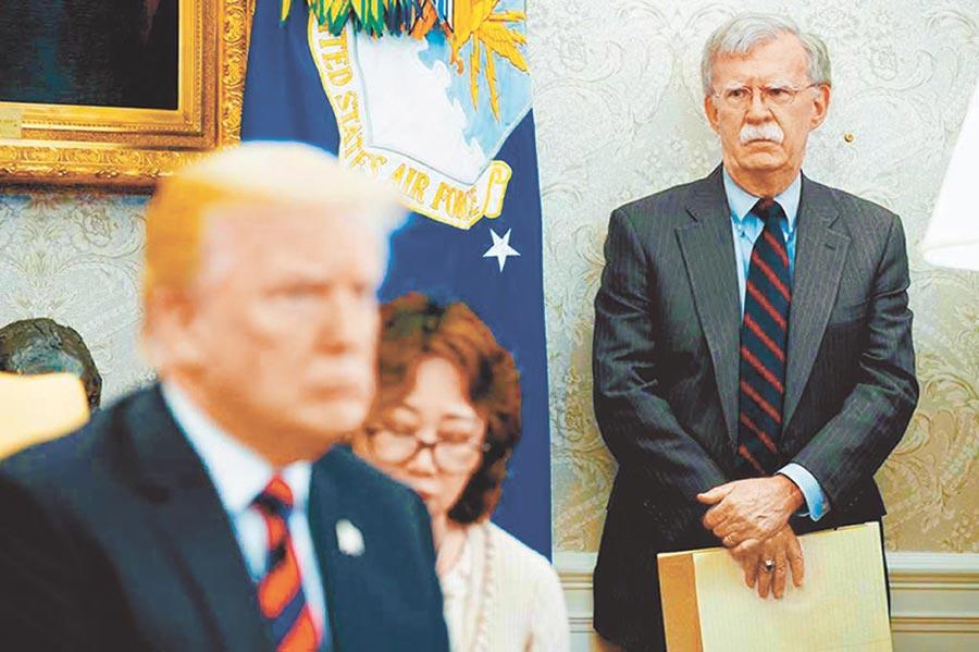 前國家安全顧問波頓的《事發之室─白宮回憶錄》的爆料川普。(美聯社)