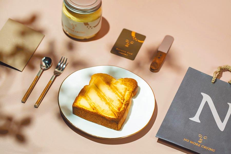 好好集×「正面奶酥」現烤奶酥厚片吐司,在新光三越台中中港店快閃,每份70元,每人限購2份。(新光三越好好集提供)