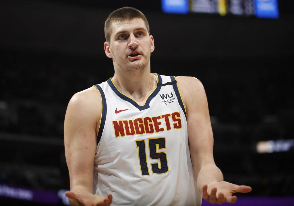 金塊中鋒約基奇是這波NBA新冠檢測當中,第1個被曝光感染新冠的球員。(美聯社)